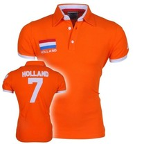 New Republic Polo Homme - Pays-Bas - Orange - Copy