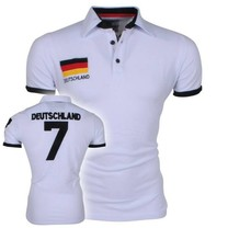 New Republic Football CE - Polo Homme - Allemagne - Blanc
