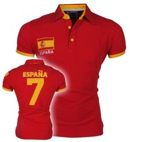 New Republic Championnat d'Europe de Football - Polo Homme - Espagne - Rouge