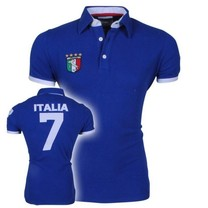 New Republic Football CE -  Polo homme - Italie - Bleu