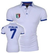 New Republic Football CE - Polo Homme - Italie - Blanc