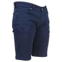 Ferlucci Ferlucci - Bermuda pour homme - Denim - Stretch - Model Rimini - Navy