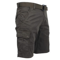 Brams Paris Brams Paris - Cargo Short Homme avec Ceinture - Model Joost - Army
