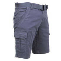Brams Paris Brams Paris - Cargo Short Homme avec Ceinture - Model Joost - Gris