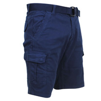 Brams Paris Brams Paris - Cargo Short Homme avec Ceinture - Model Joost - Navy