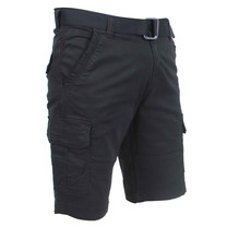 Brams Paris Brams Paris - Cargo Short Homme avec Ceinture - Model Joost - Noir