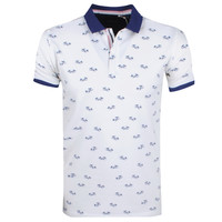 Deeluxe Deeluxe - Polo pour homme - Palm - Blanc