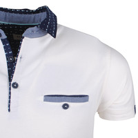 Deeluxe Deeluxe - Polo pour homme - Contrast  - Off White