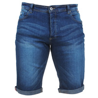 MZ72 MZ72 - Men's Jeans Short - Stretch - Footing - Stone Washed