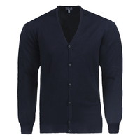 New Republic Consenso - Cardigan pour homme - Maille fine - Navy