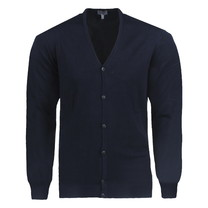 New Republic Consenso - Cardigan pour homme - Maille fine - Marine