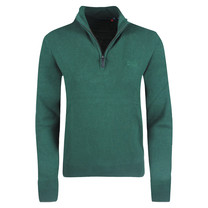 Superdry Superdry - Men's Pullover with Zipper - Organic Cotton - Green