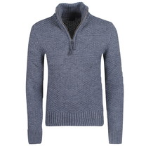 Superdry Superdry - Men's Pullover with Zipper - Jacob Henley - Grey