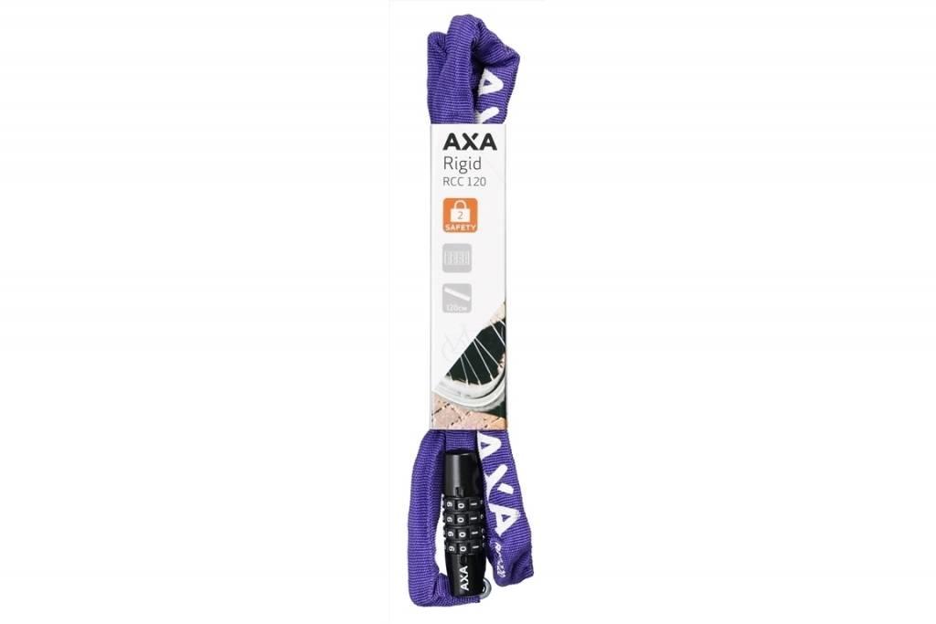 Axa Rigid RCC Ketting cijferslot 120 Paars 0124/2379