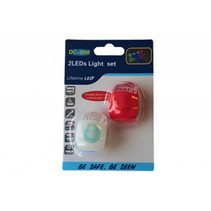 Fietsverlichting Lifetime Led Silicone 2 DLG  DC-008