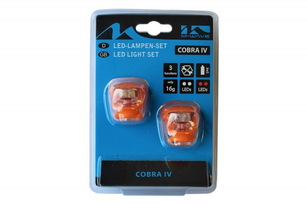 Fietsverlichting set Led Cobra 220637 Oranje