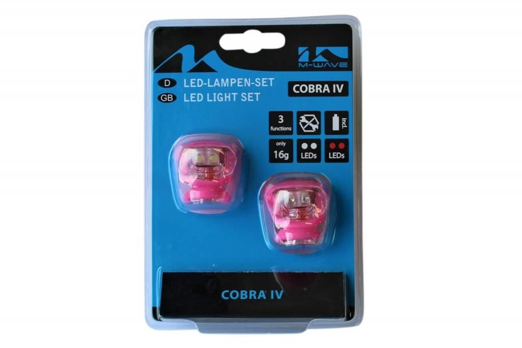 Fietsverlichting set Led Cobra 220638 Roze
