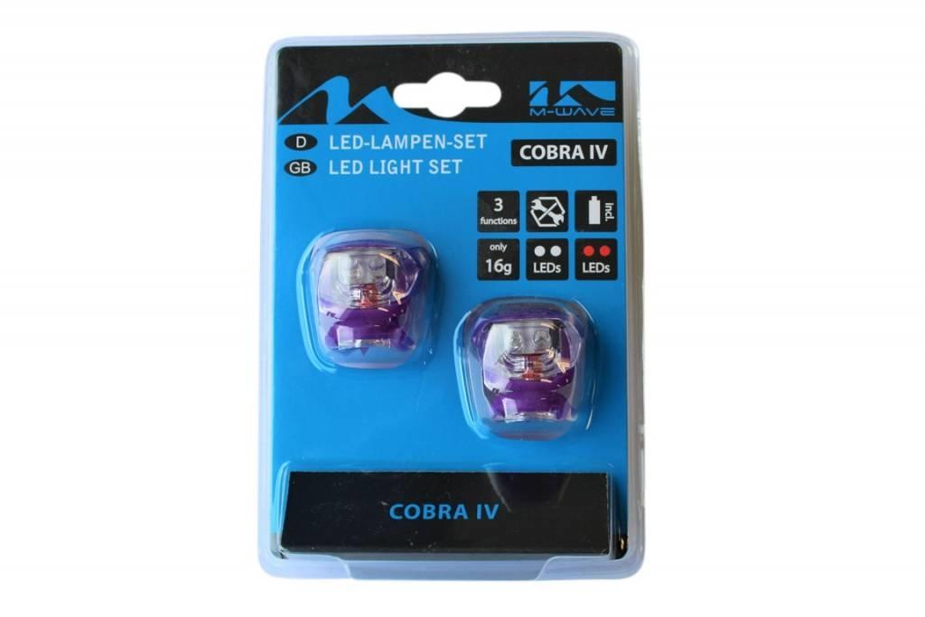 Fietsverlichting set Led Cobra 220639 paars