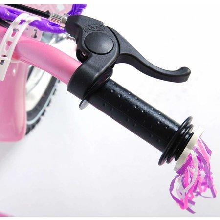 Volare Rose 12 inch Meisjesfiets Roze Wit