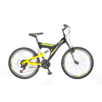 Umit Ride On 24 inch 21v  MTB Zwart Geel