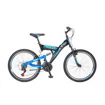 Umit Ride On 24 inch 21v  MTB Zwart Blauw