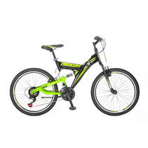 Umit Ride On 24 inch 21v  MTB Zwart Groen