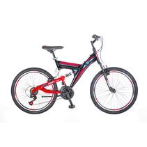 Umit Ride On 24 inch 21v  MTB Zwart Rood