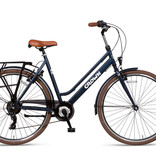Crown New York 28 inch stadsfiets 49cm 7v Jeans Blue