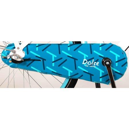 Volare Dolce Shimano 24 inch 3v meisjesfiets wit blauw 95%
