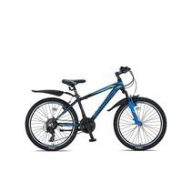 Umit Mirage Mountainbike 24 inch 21v Zwart Blauw - pre