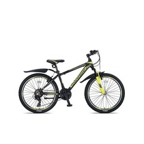 Umit Mirage Mountainbike 24 inch 21v Zwart Lime