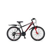 Umit Mirage Mountainbike 24 inch 21v Zwart Rood - pre