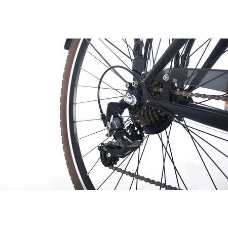 Crown New York Plus 28 inch Damesfiets 49cm 7v Zwart