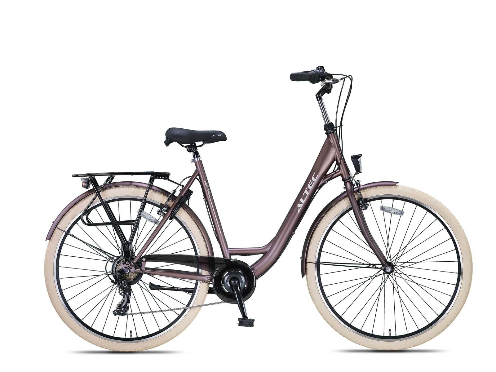 Altec Metro Plus Damesfiets 28 inch 55cm Terra Brown 7v online kopen