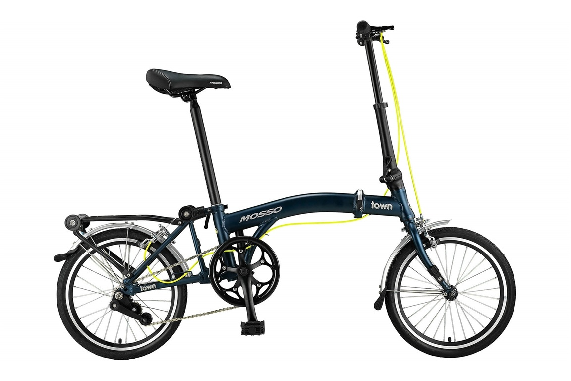 Mosso Town 16 inch vouwfiets Mat Blauw