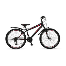Umit Faster Mountainbike 26 inch 21v Zwart Rood