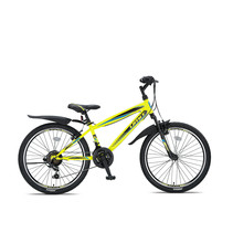 Umit Faster Mountainbike 24 inch 21v Zwart Lime
