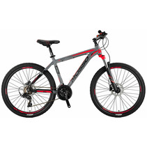 Mosso Wildfire Mountainbike 26 inch 21v HYDR Grijs Rood