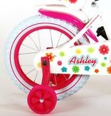 Volare Ashley Kinderfiets - Meisjes - 14 inch - Wit - 95%