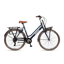Crown New York Plus 28 inch stadsfiets 49cm 7v Jeans Blue