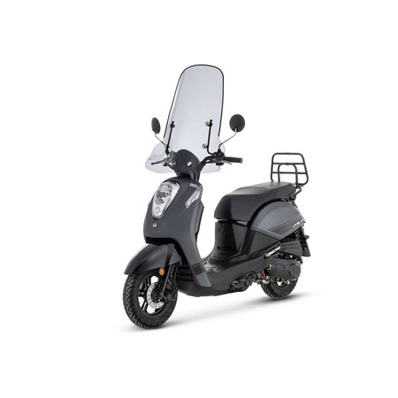 Sym Sym Mio 50 I Matt Grey Matt Black + Pack