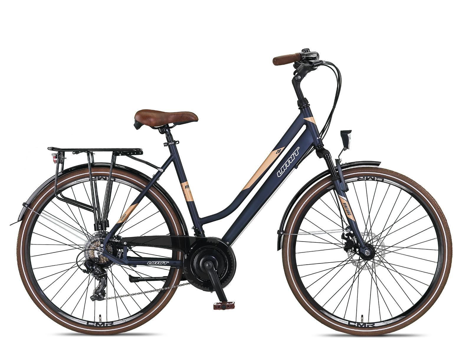 Umit Ventura Damesfiets 28 inch 53cm 21v Blauw Goud