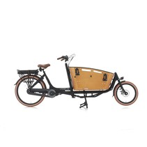 Vogue Carry 2 Bakfiets 48cm Matt Black/Brown 7V