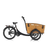 Vogue Superior 3 Bakfiets 48cm Matt Black/Brown 7V