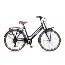 Crown New York Plus 28 inch stadsfiets 55cm 7v Jeans Blue