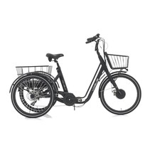 Vogue E-Driewieler Tri-Velo 24 inch Matt Black 7V