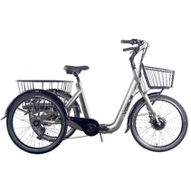 Vogue E-Driewieler Tri-Velo 24 inch Matt Grey 7V