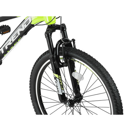 Altec Trend 24 inch Mountainbike 21v Zwart Lime