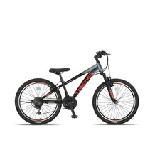 Altec Trend 24 inch Mountainbike 21v Zwart Oranje