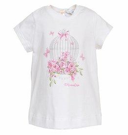 Monnalisa Monnalisa T shirt vogelkooi